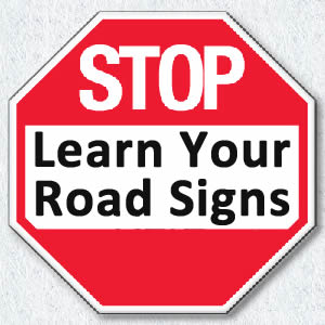 learn irish road signs for driving test