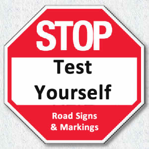 test yourself on roadsigns and markings
